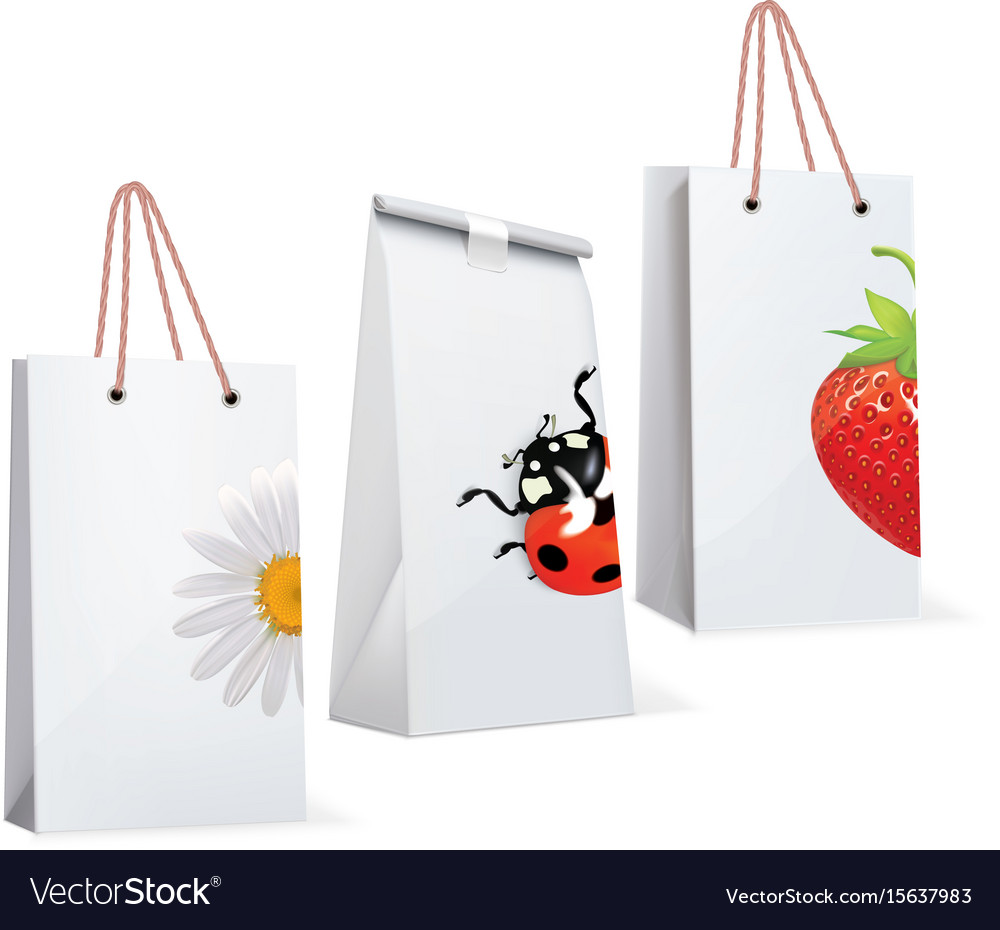 Paper bags with adybird strawberry chamomile