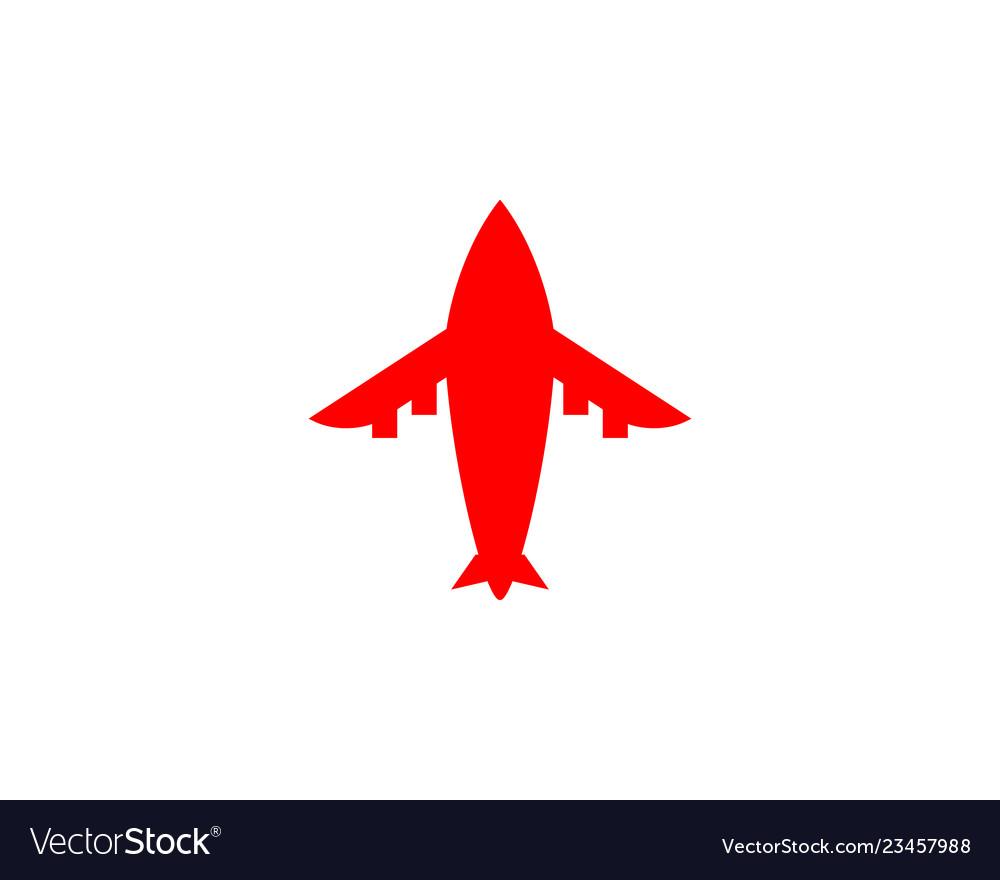 Airplane logo template design