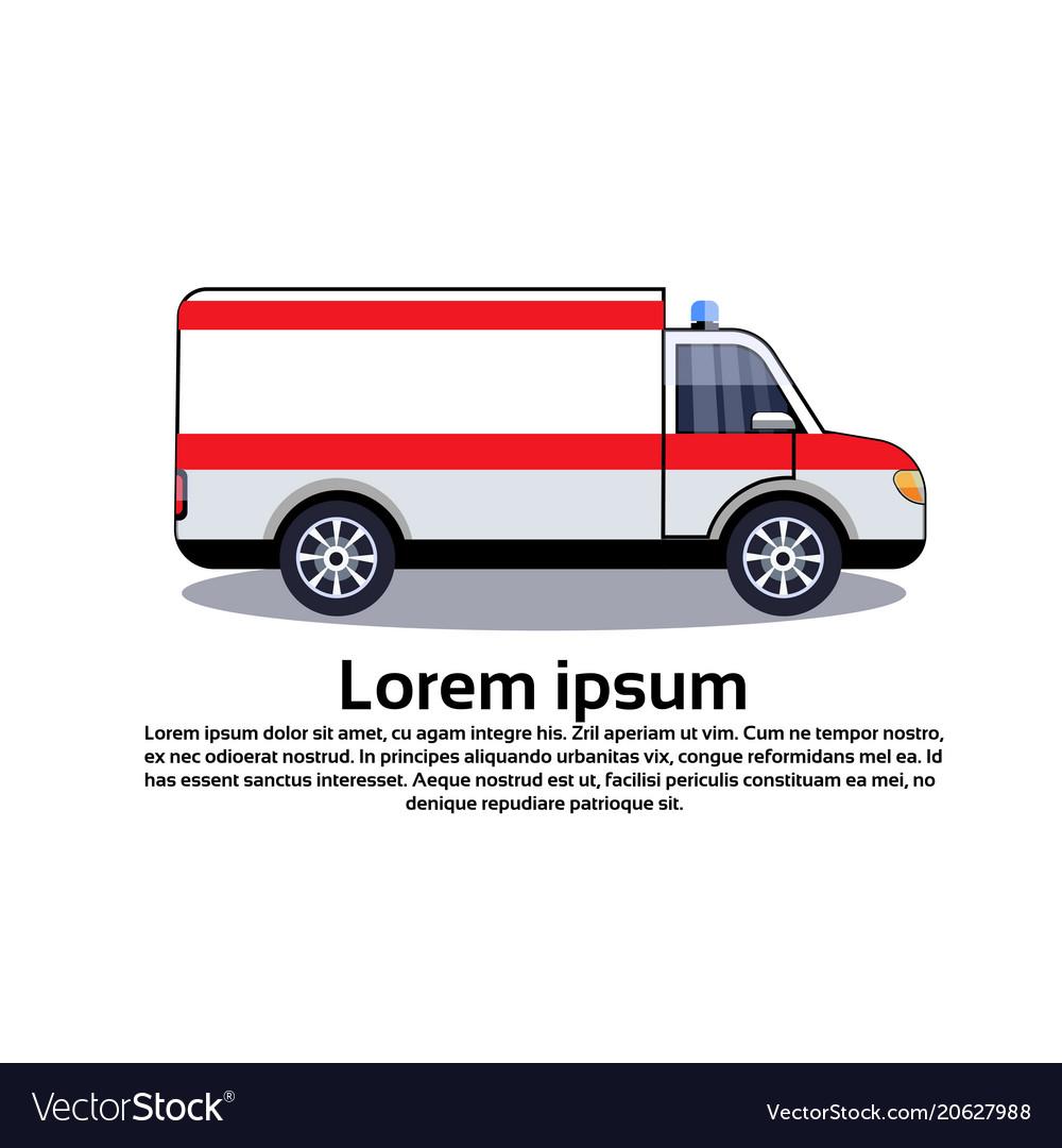 Ambulance emergency car icon medical vehicle