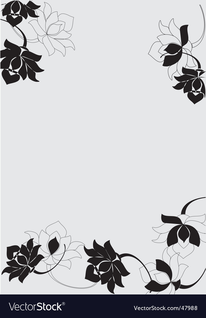 Floral Border Design Royalty Free Vector Image