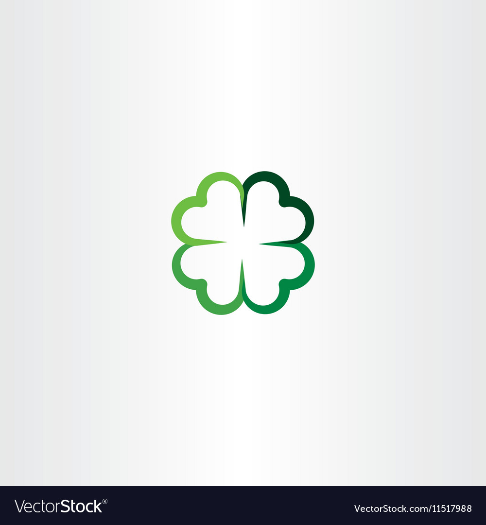 four leaf clover luck icon clip art royalty free vector