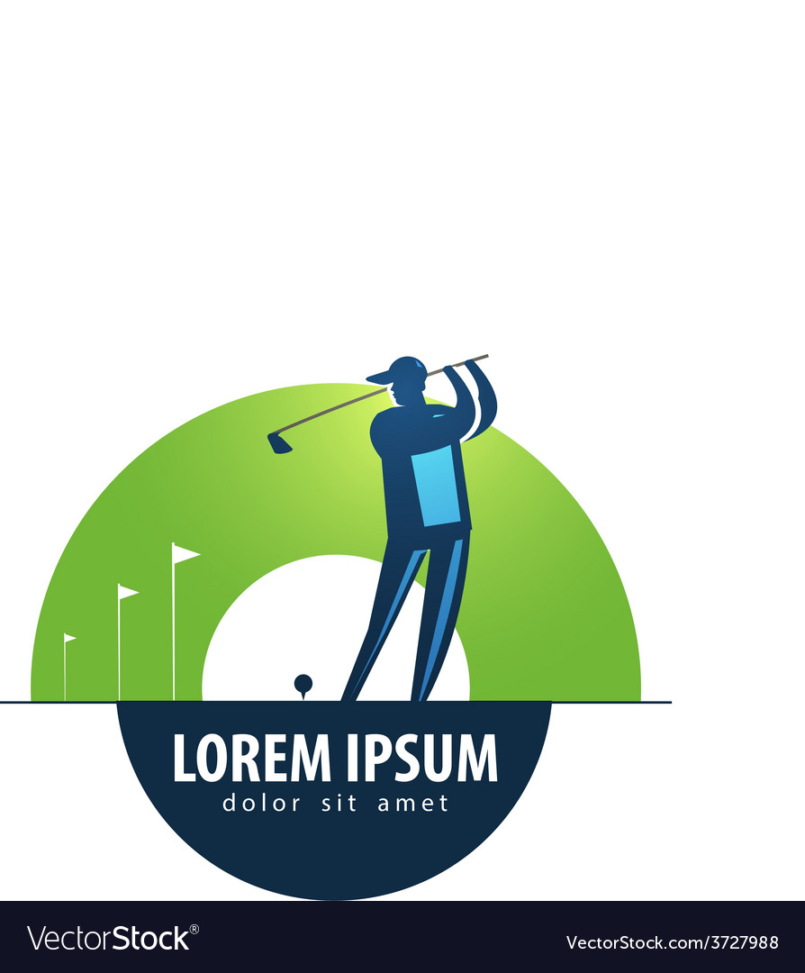 Golf logo design template sports or game