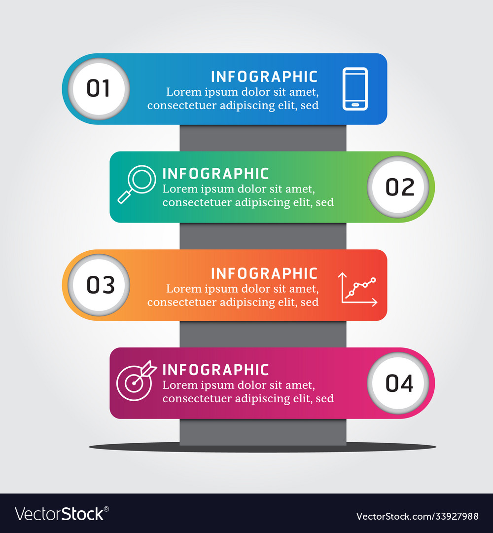 Infographic label design template with icons 4