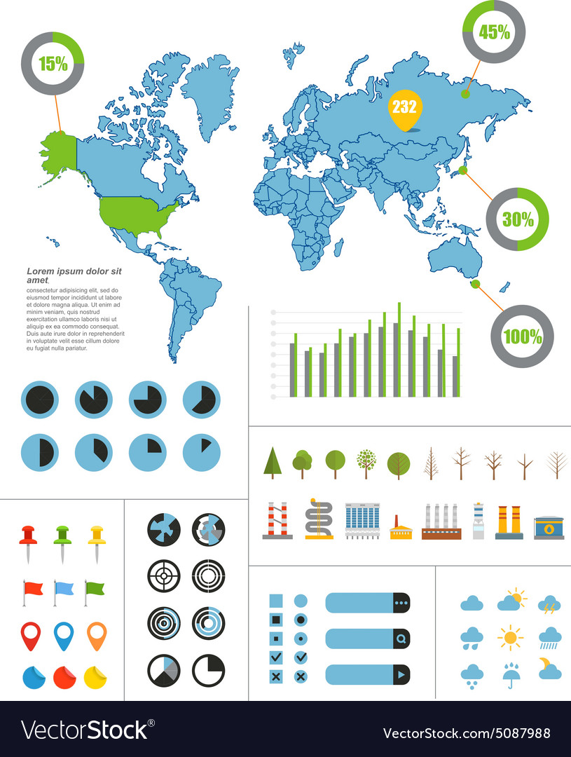 Infographics Earth map