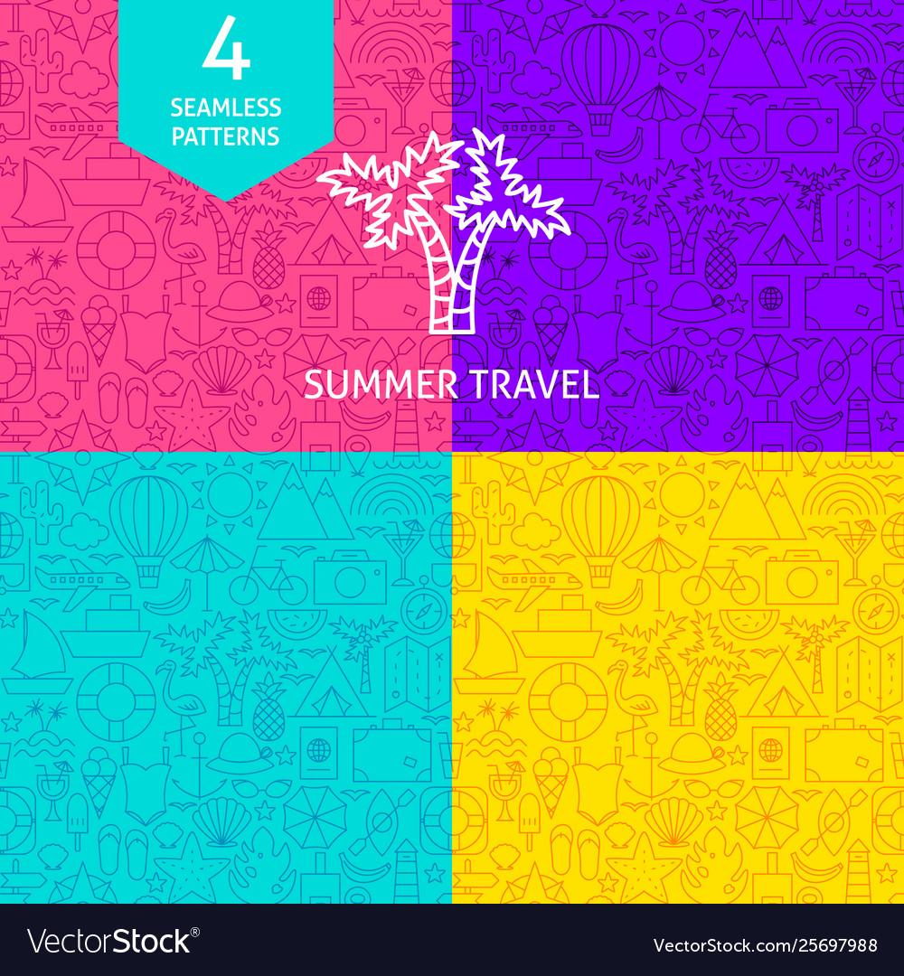 Line summer travel patterns