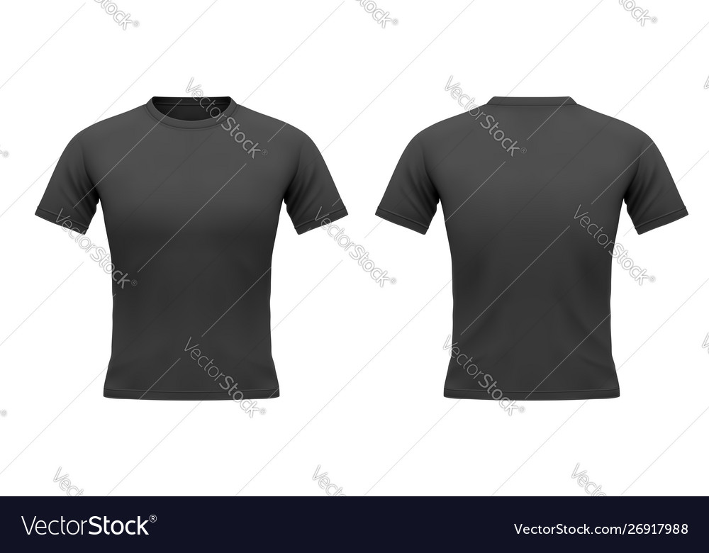 Mens black t-shirt with short sleeve