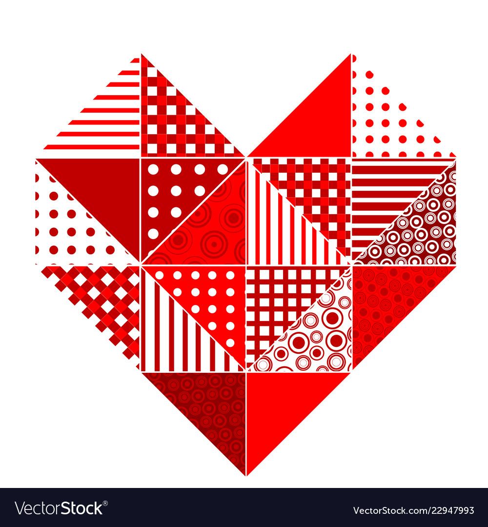 Abstract patchwork heart