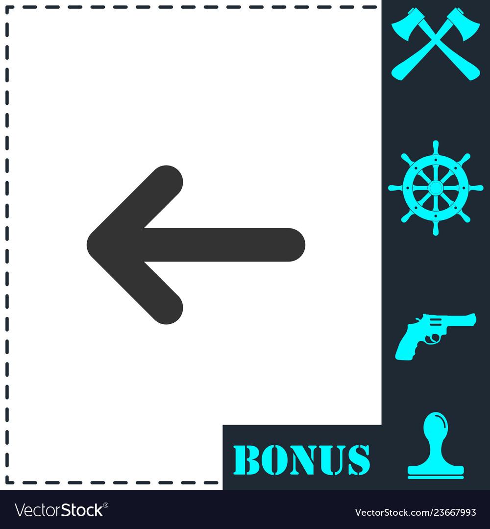 Arrow icon flat