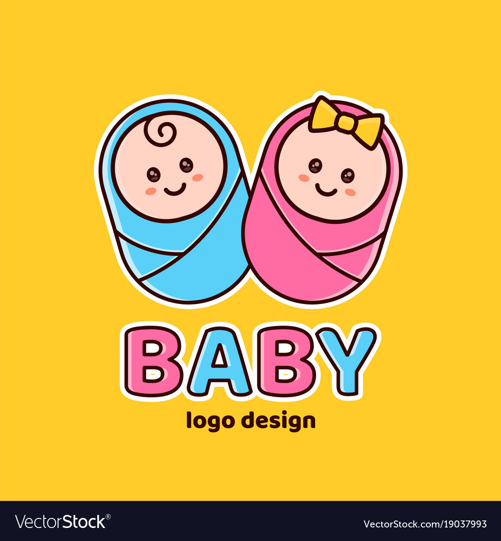 Boy and girlbaby showernewborn logo