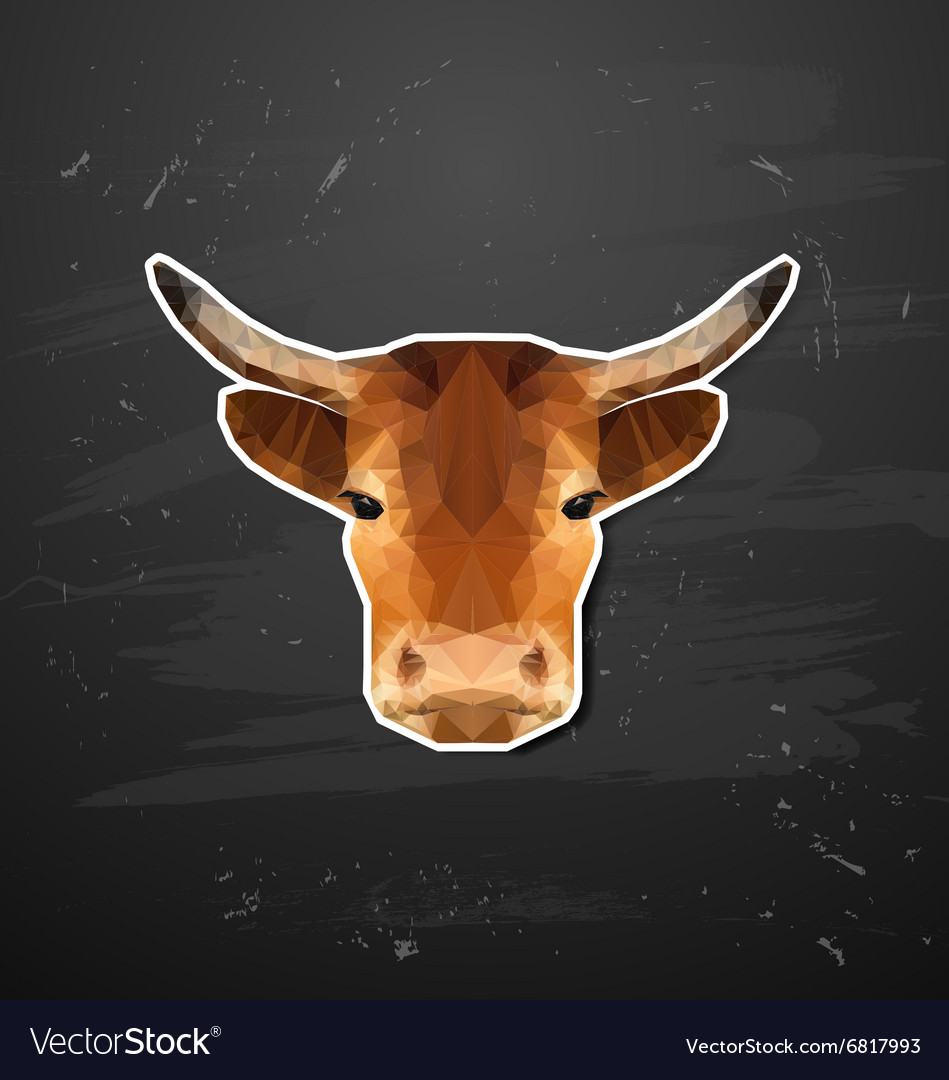 Cow abstract triangle polygonal animal origami
