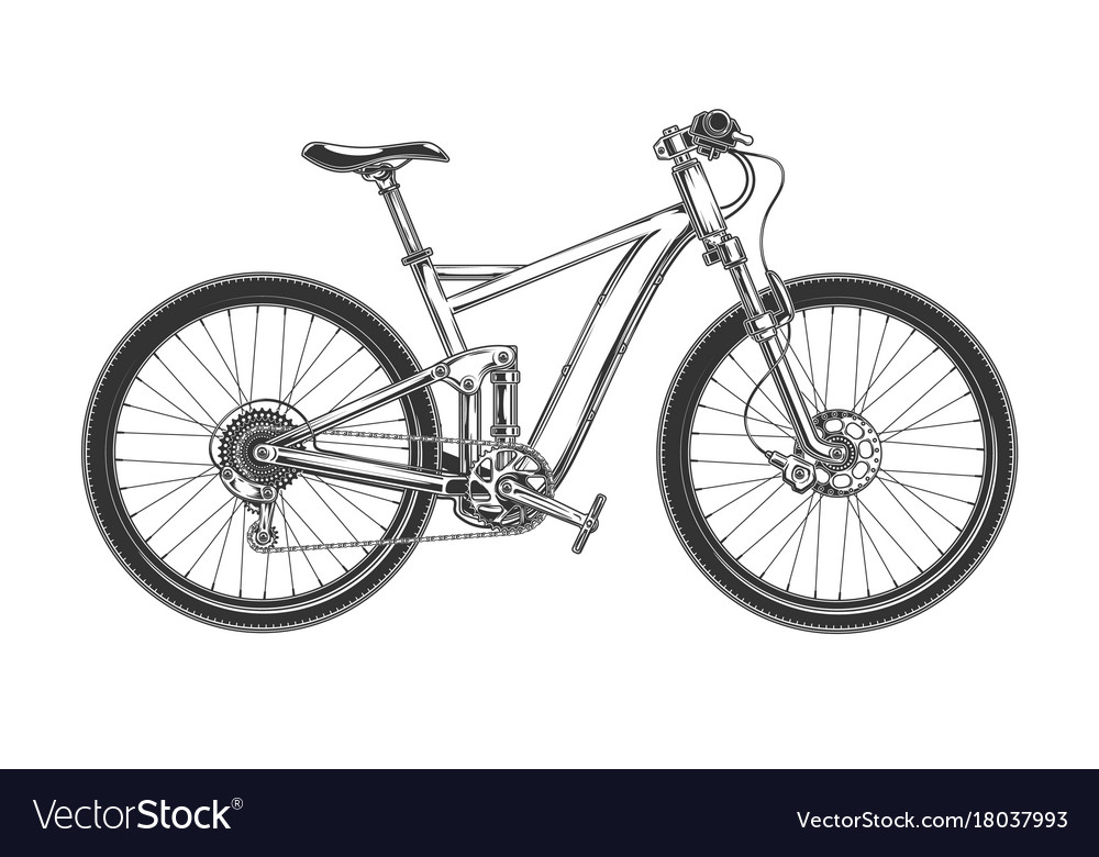 Downhill cross country bicycle engraved