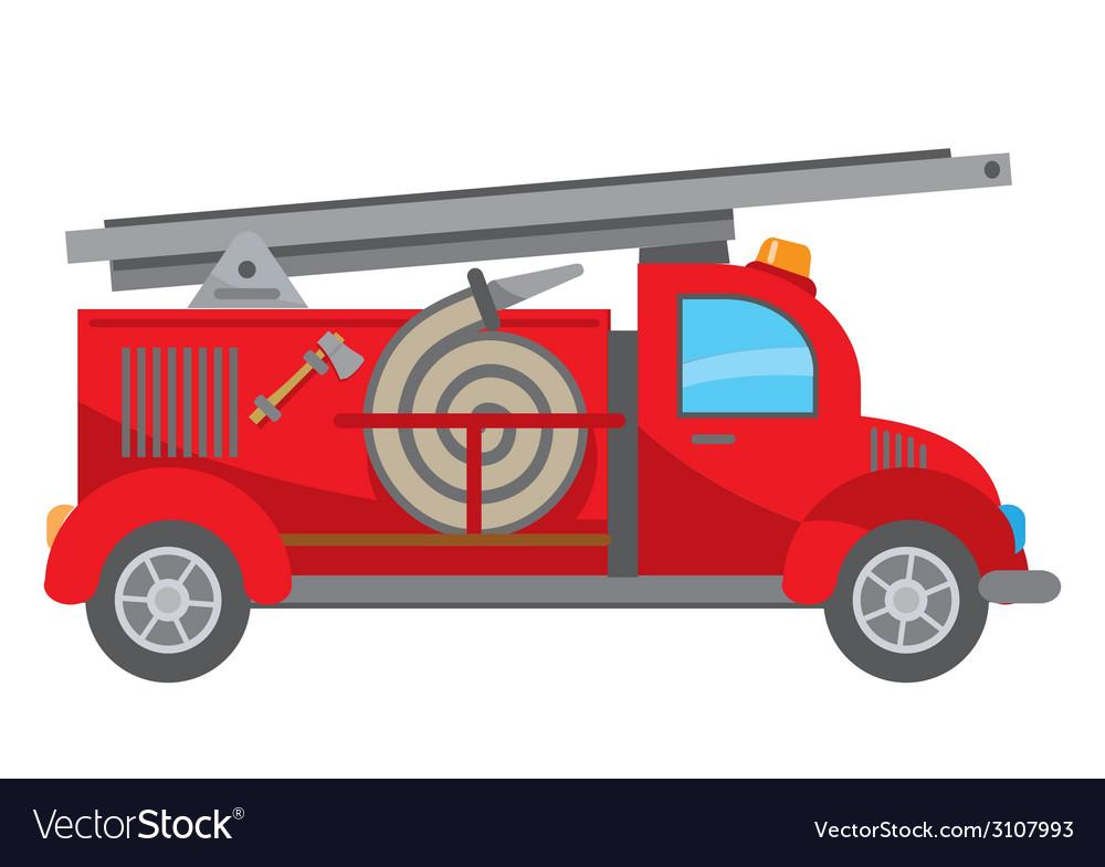 fire truck cartoon royalty free vector image vectorstock