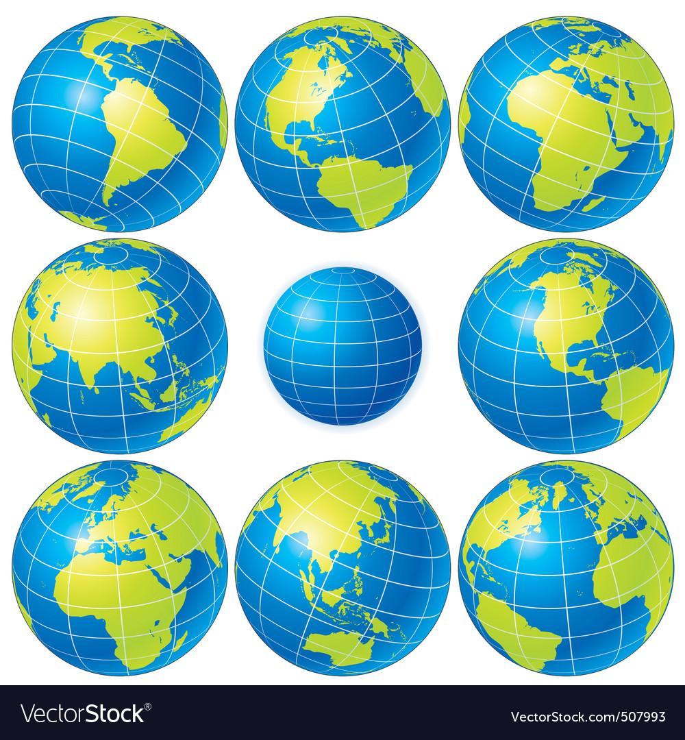 Vector globes set