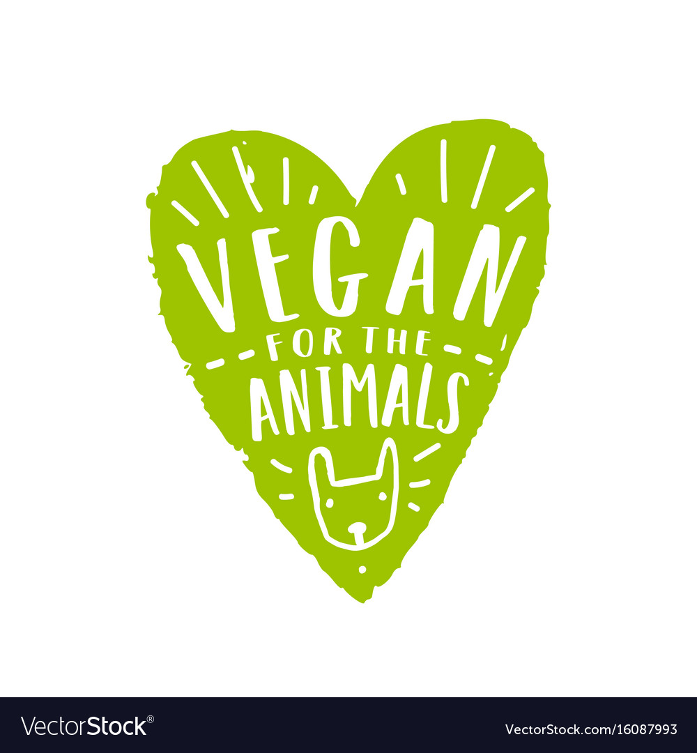 Vegan for animals vector image
