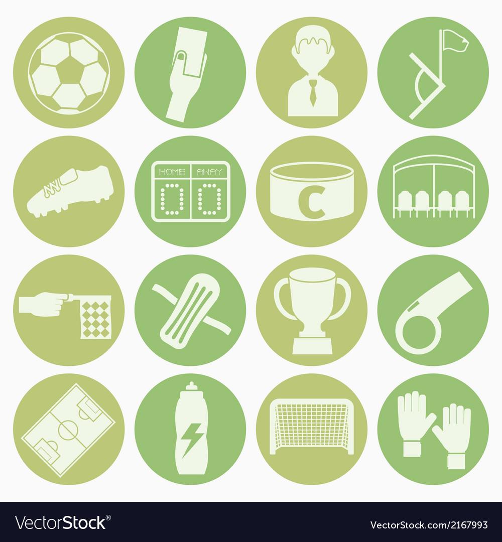 White icons soccer