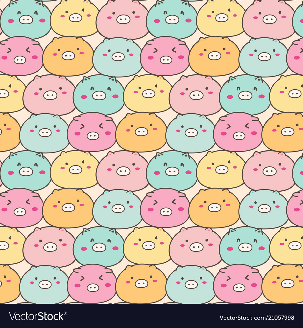 Cute pig pattern background