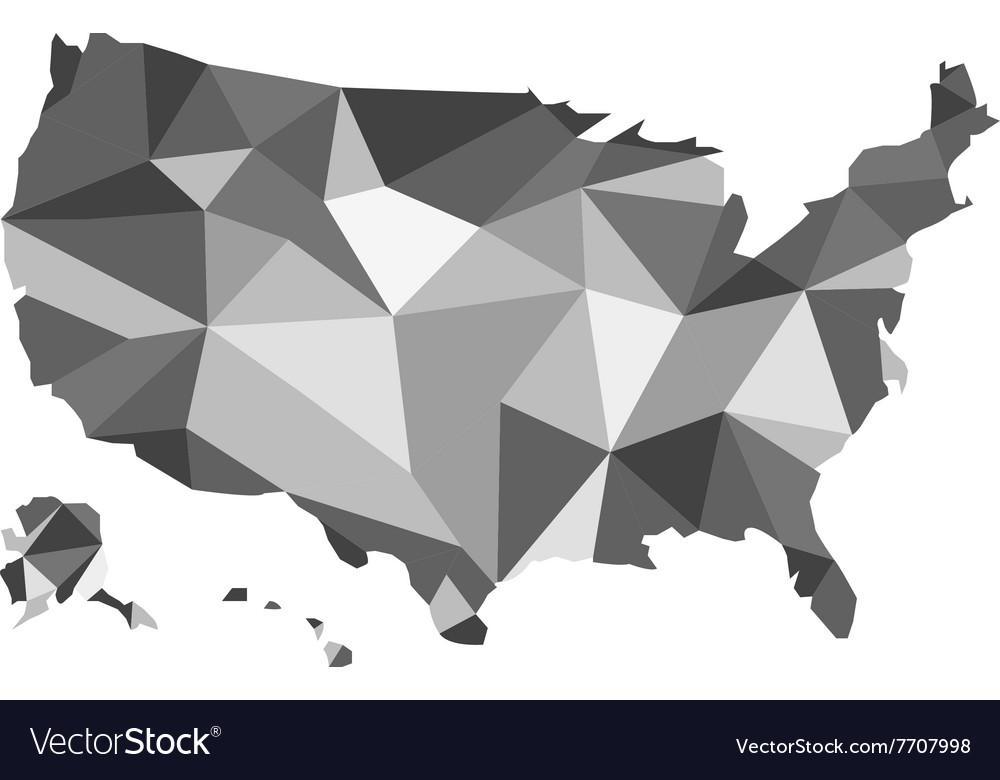 Map of USA design polygon