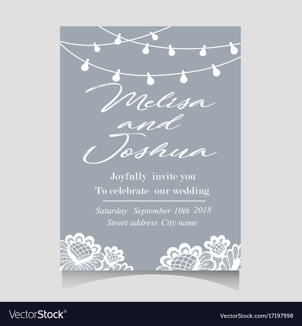 Save the date invitation card with holiday