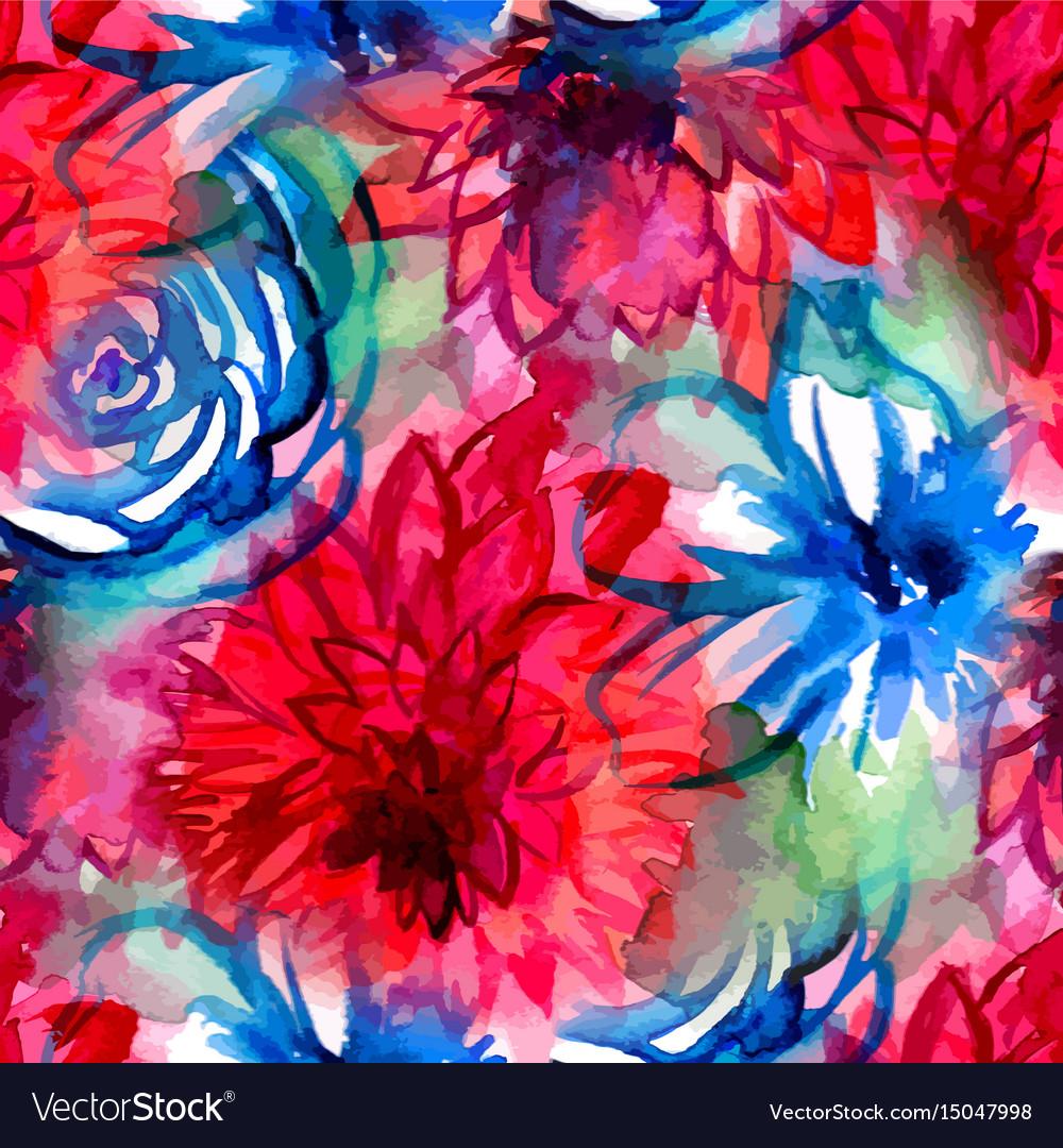 Watercolor floral pattern seamless pattern