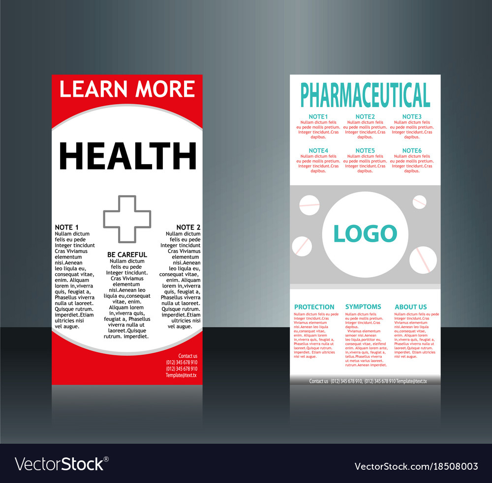 Collection of 2 abstract medical business cards vector image flashek Choice Image
