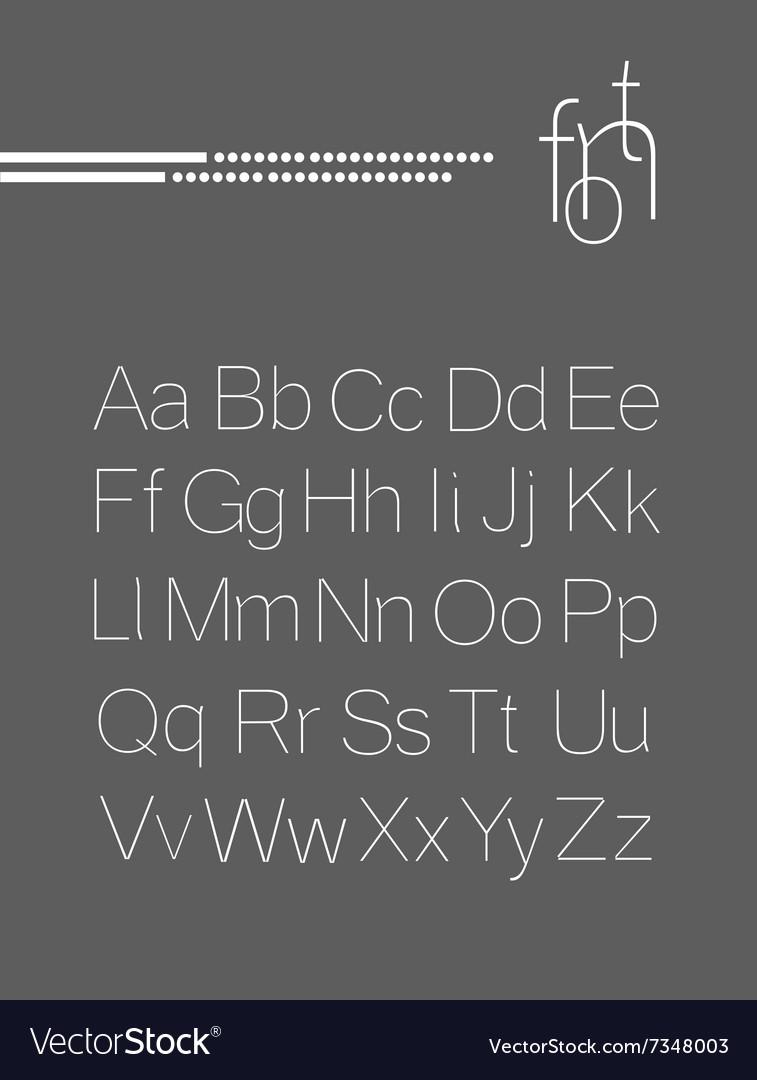 Elegant light font letters design