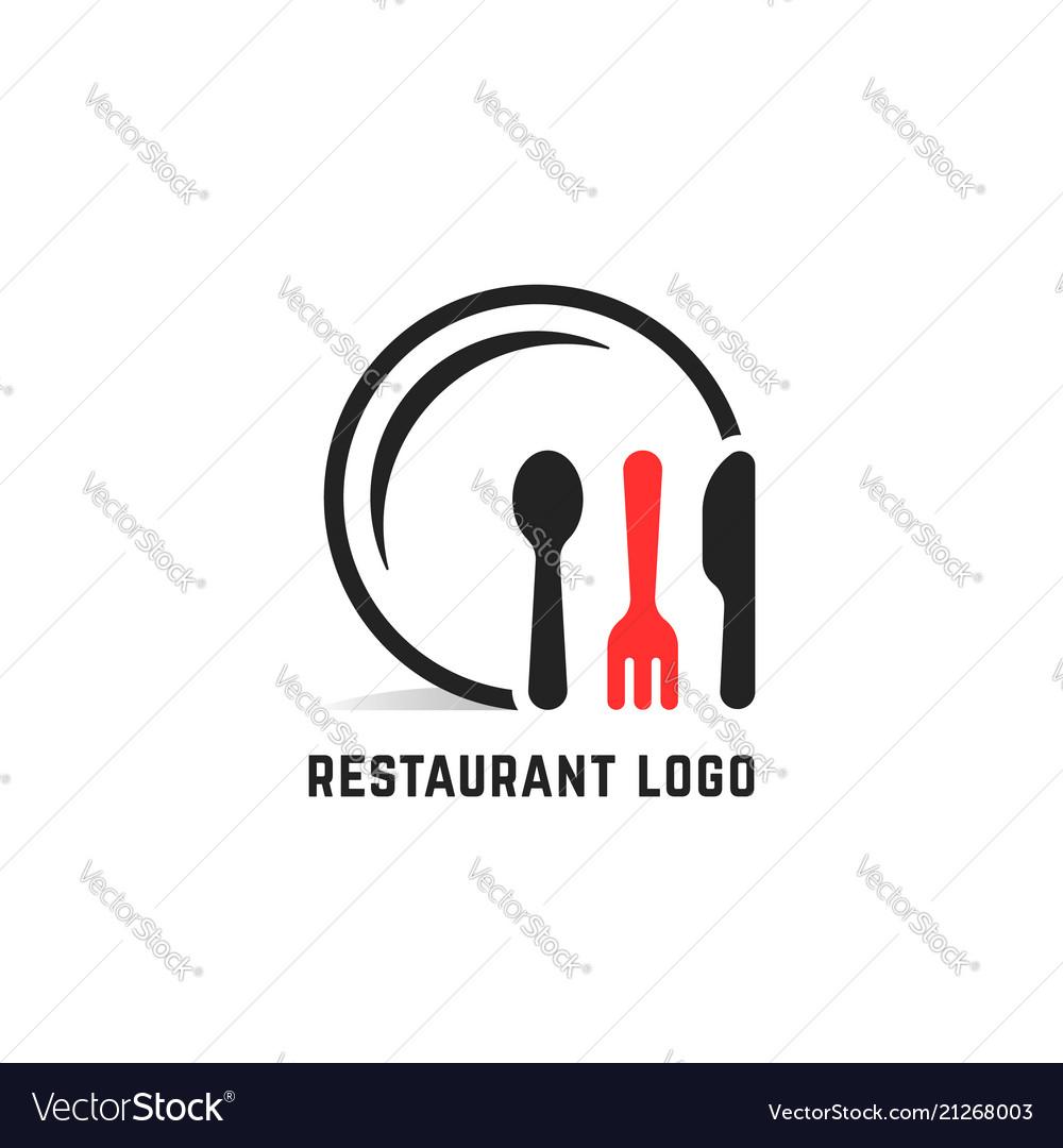 Restaurant service logo isolated on white