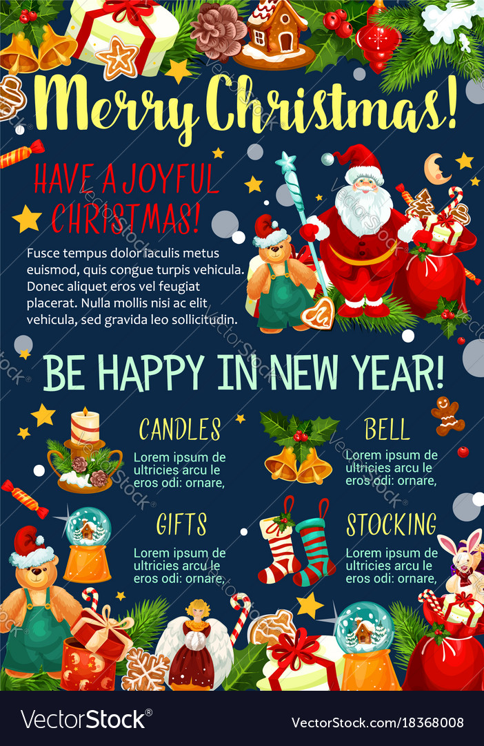 christmas and new year celebration greeting banner vector image