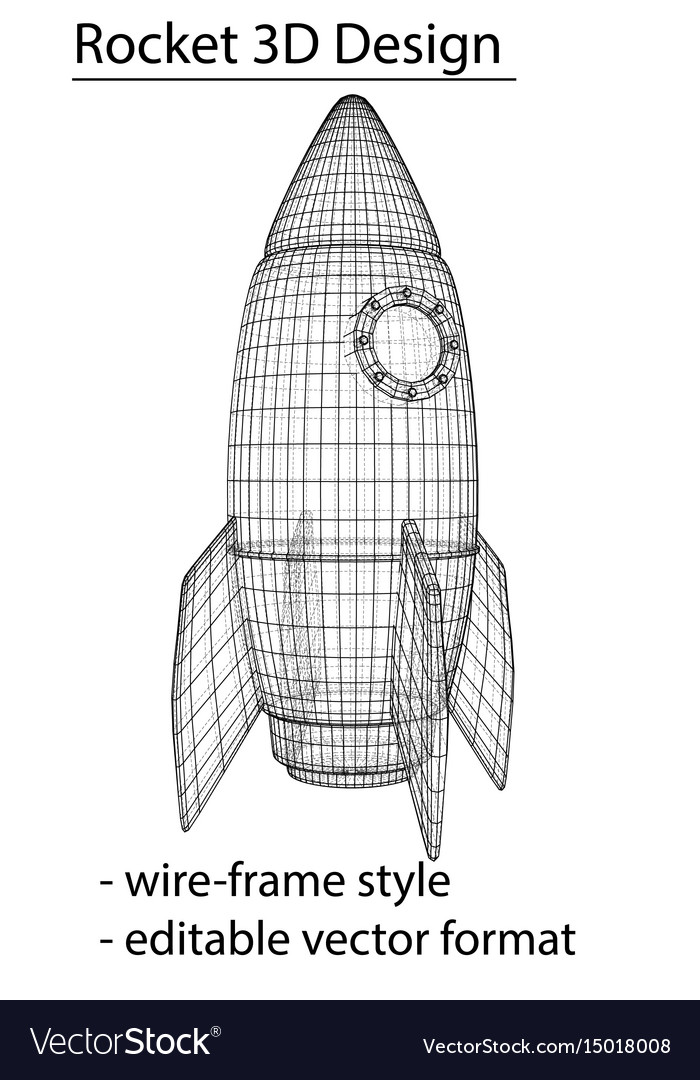 Design of a space rocket the concept of a startup