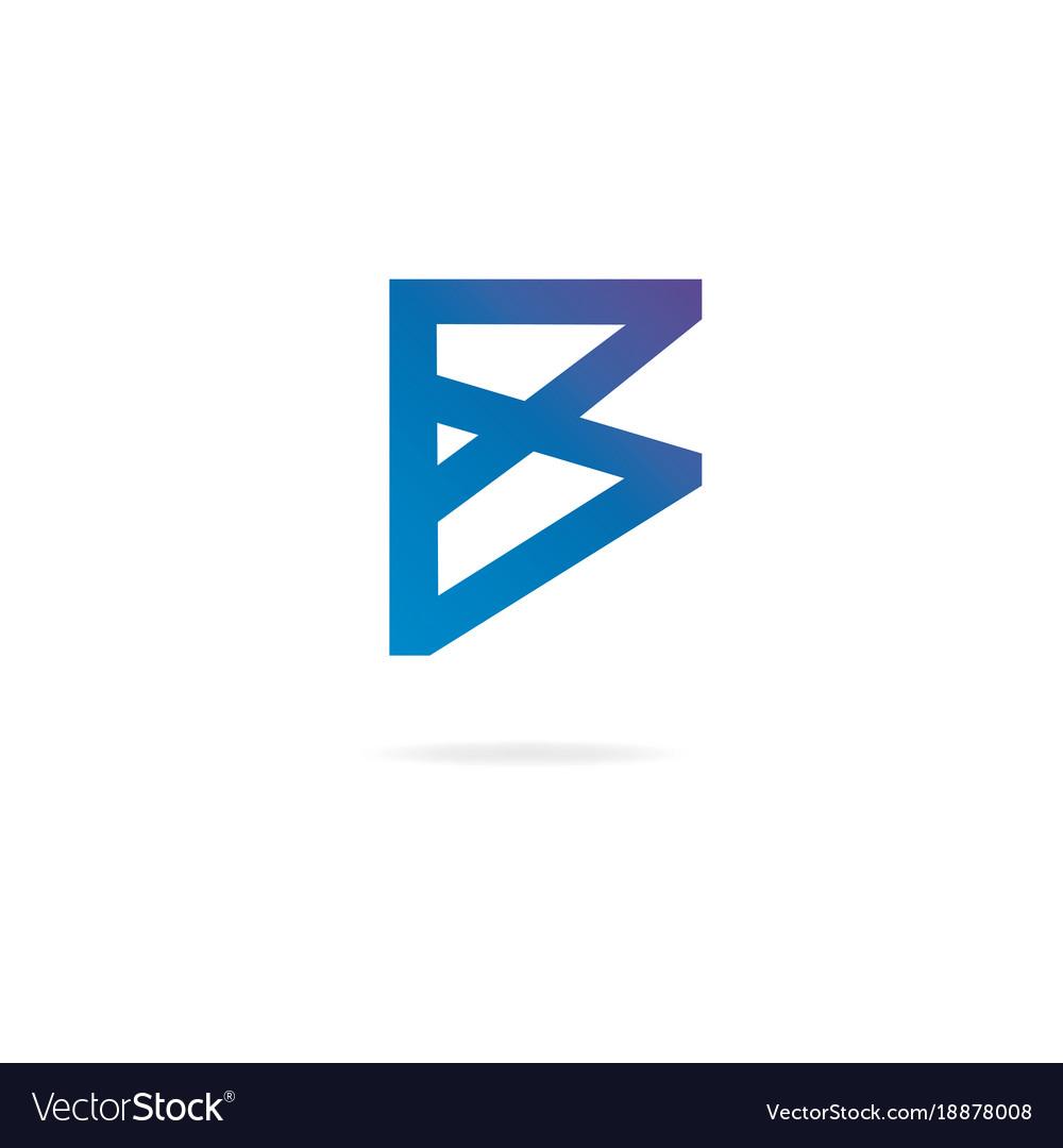 Letter b logo design template elements vector image
