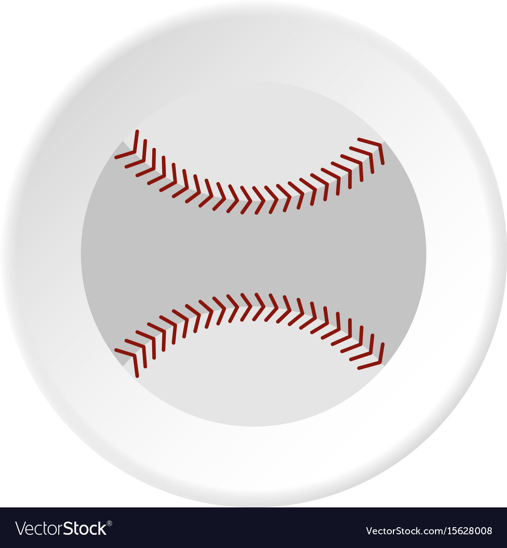 Softball ball icon circle vector image