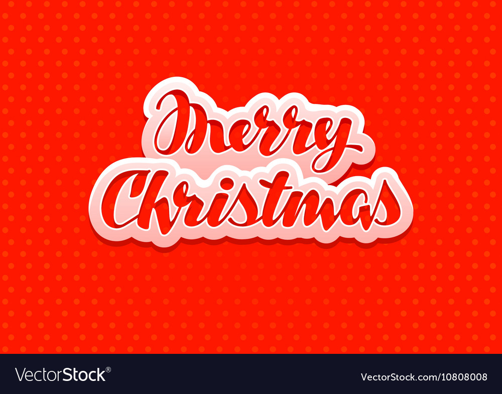 Vintage Merry Christmas red banner vector image