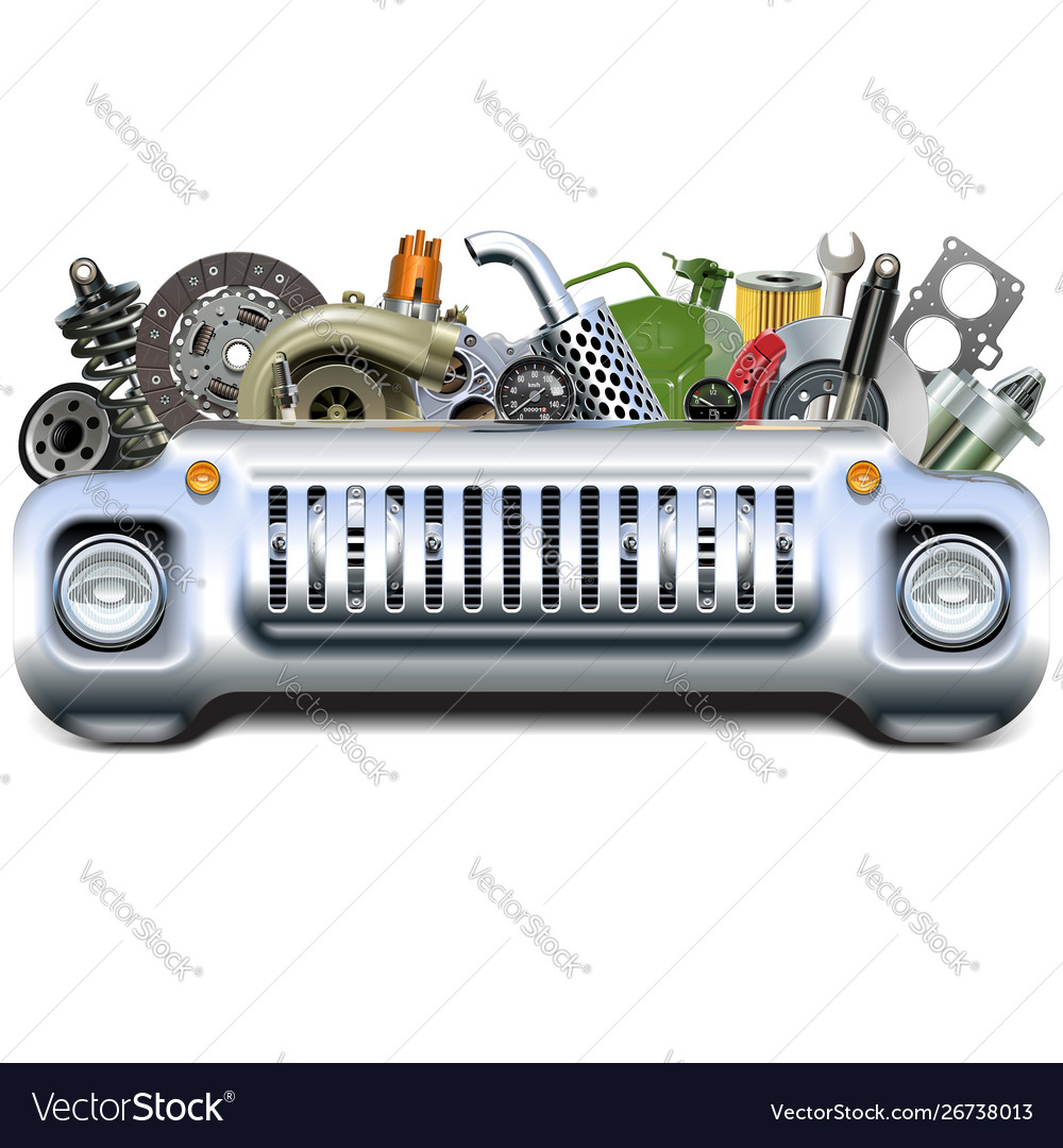 I 80 Auto Parts >> Car Parts With Car Front End