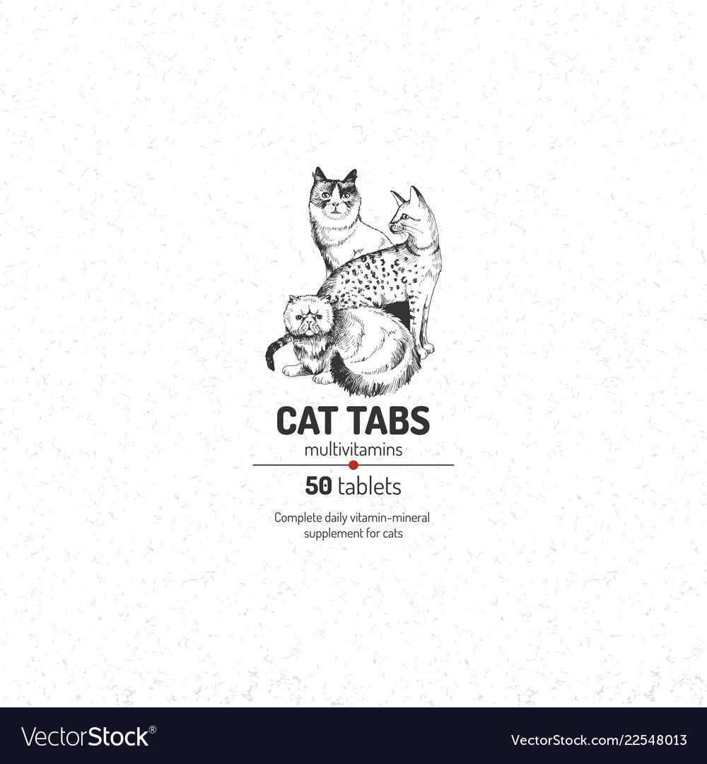 Cat tabs logo template
