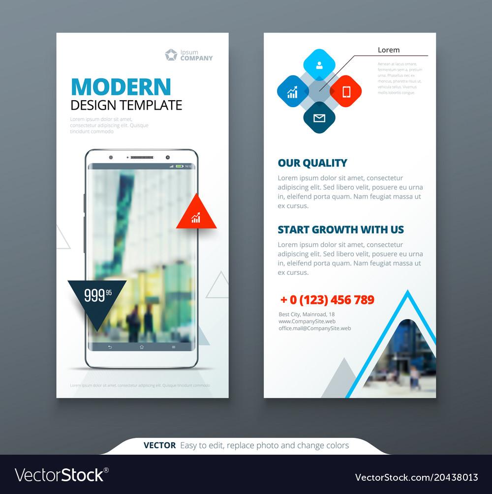 Dl flyer design template dl flyer banner layout Vector Image