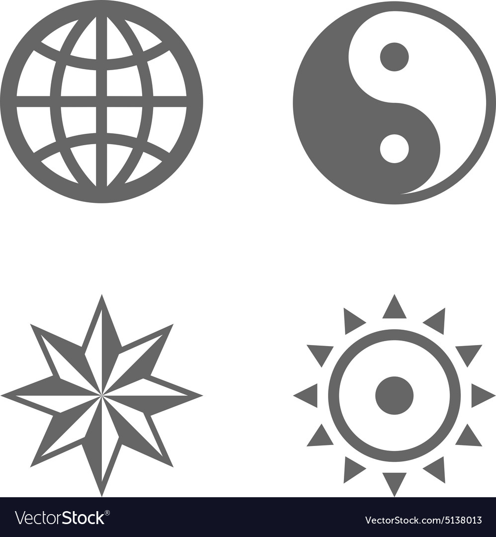 Four nice sign icons of eternal essence