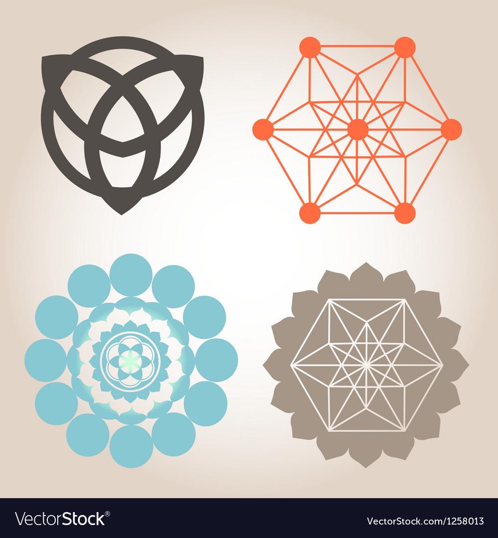 Geometrical designs vector image