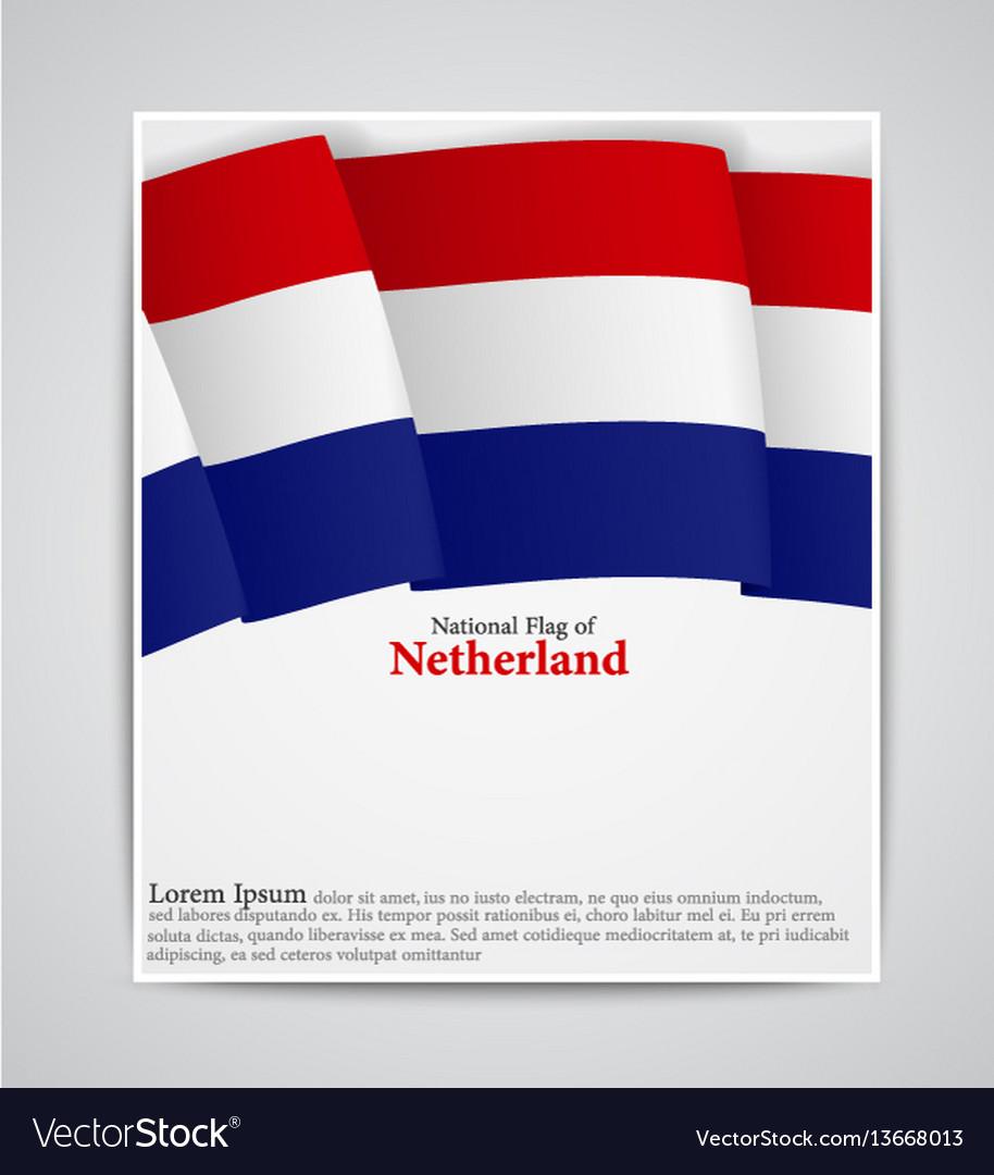 National flag brochure of netherland