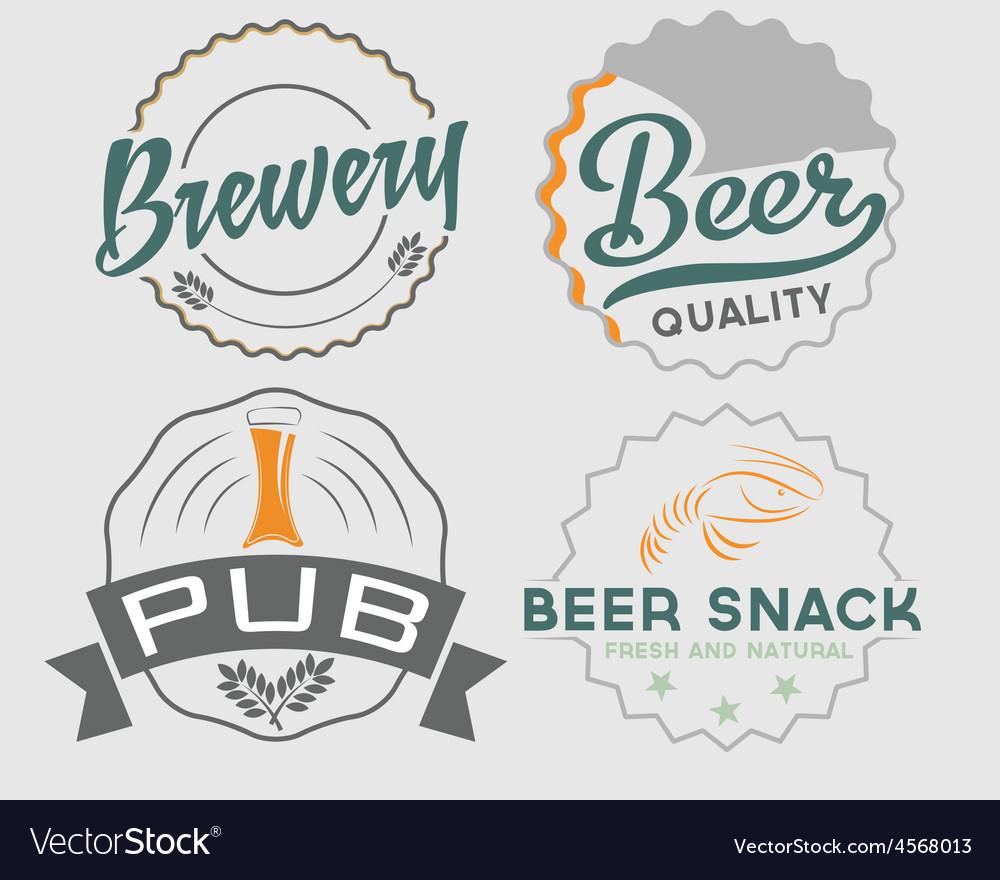 Set of vintage beer emblems