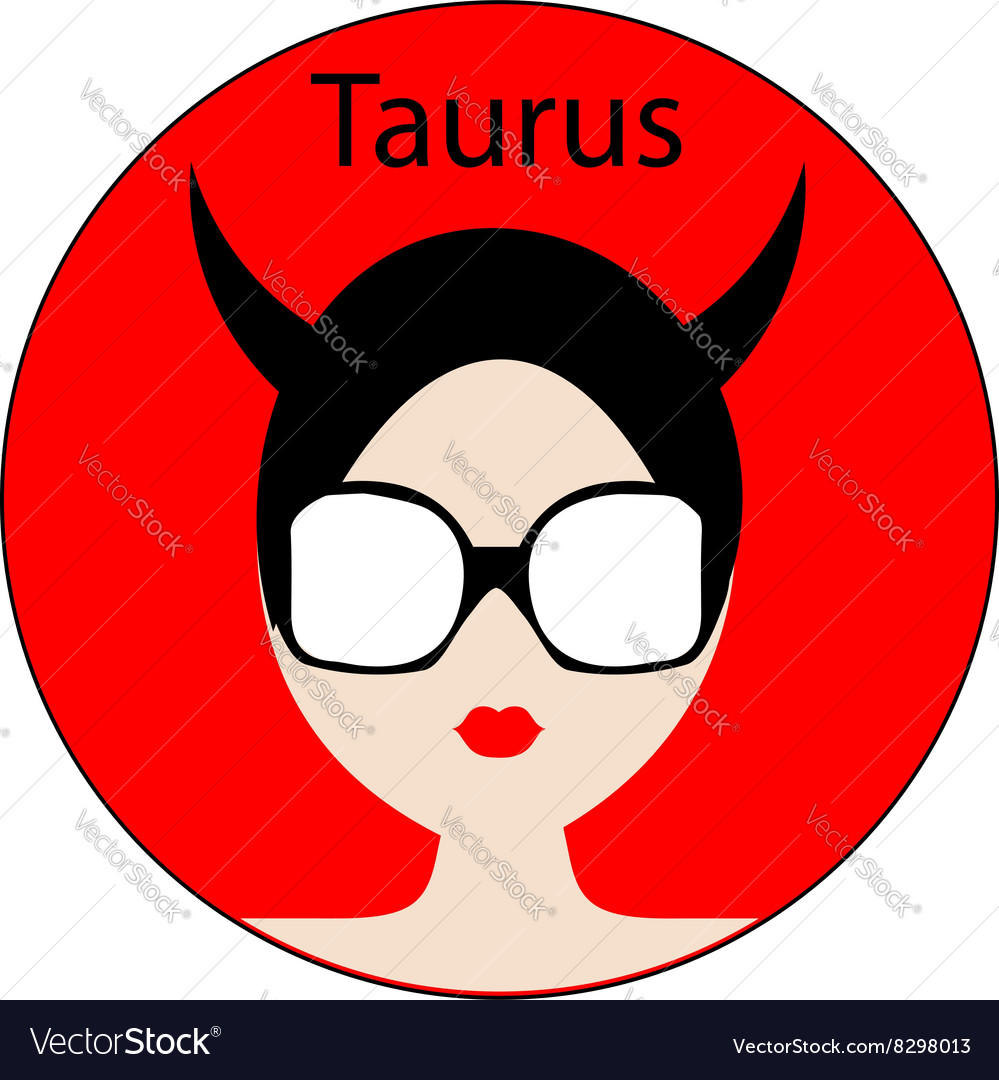 Taurus zodiac sign vector image on VectorStock