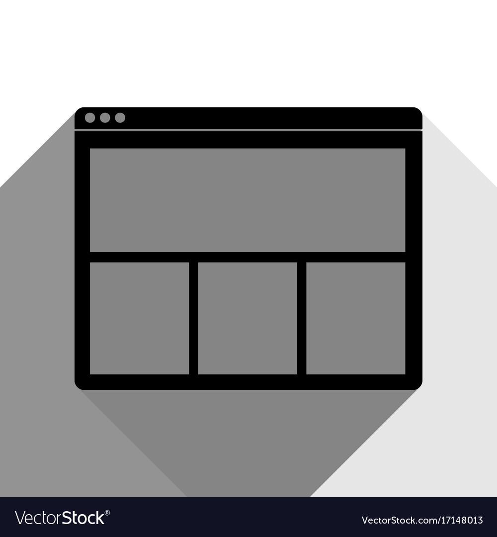 Web window sign black icon with two flat