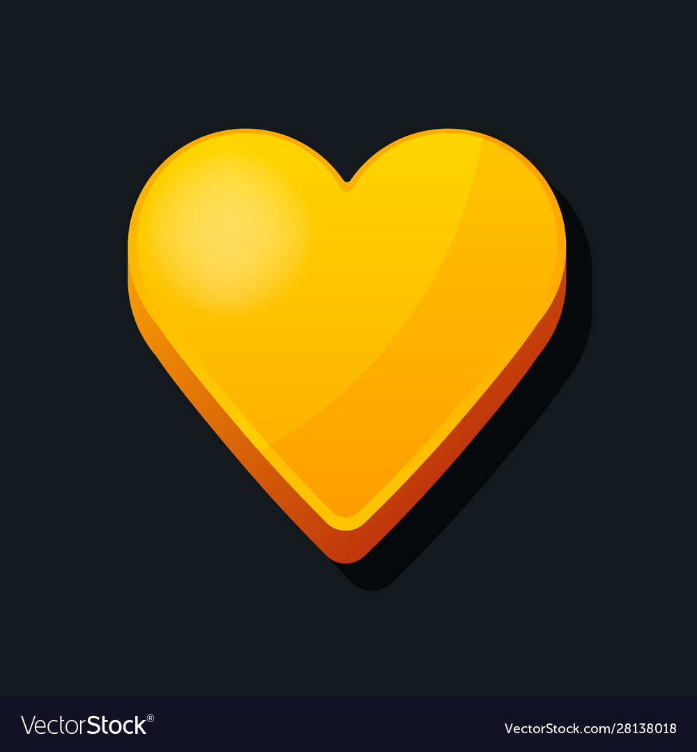 3d heart icon cartoon style love valentines day