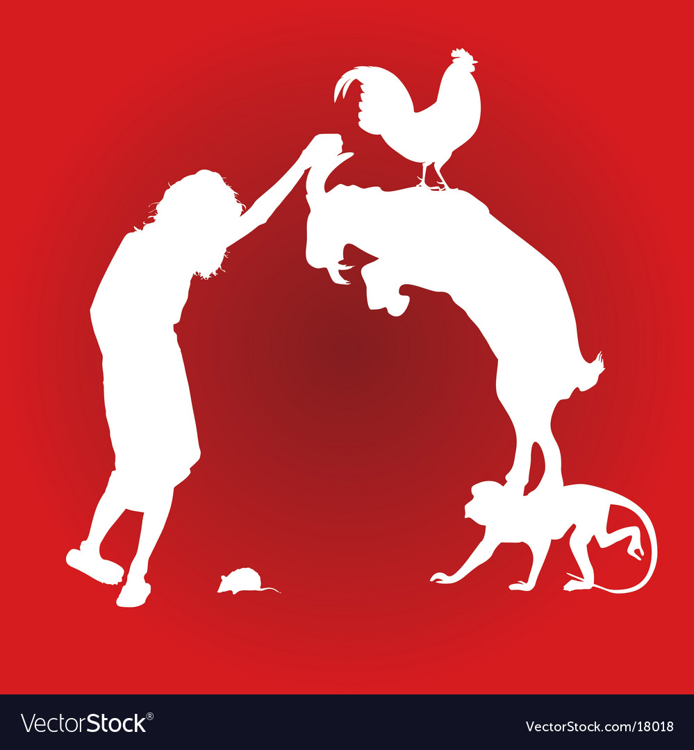 Animal composition vector image