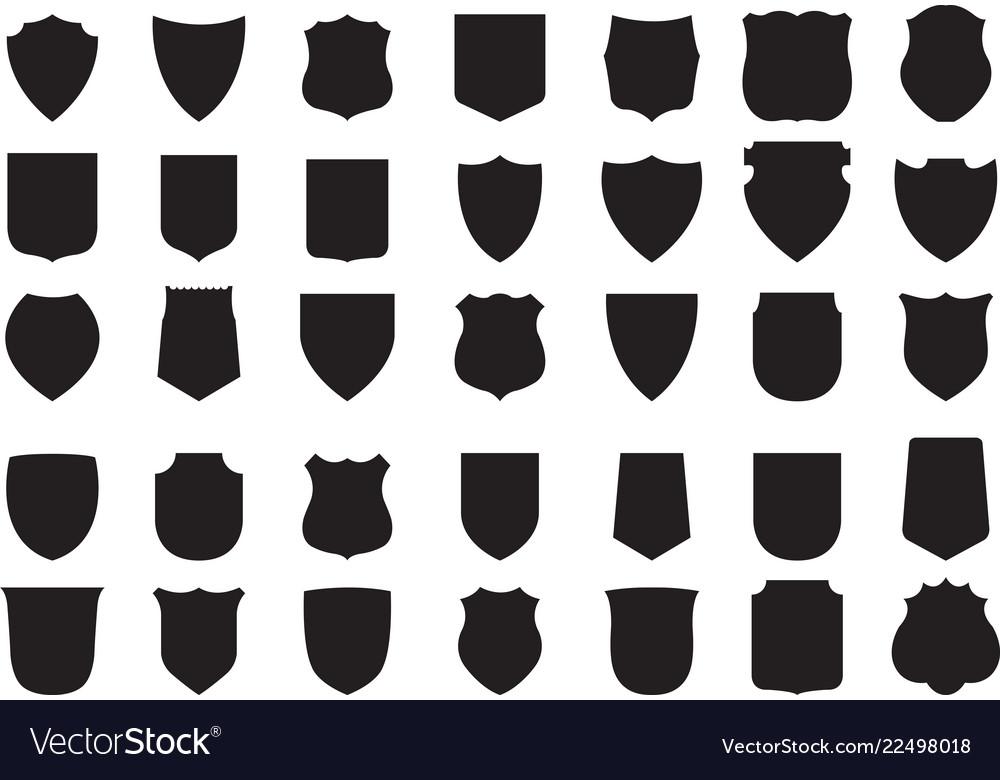 Black shields set 35 shields