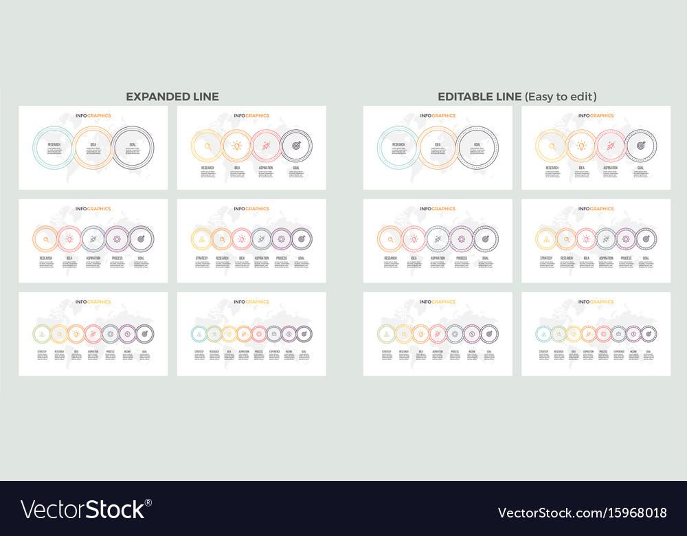 Business presentations large set of vector image