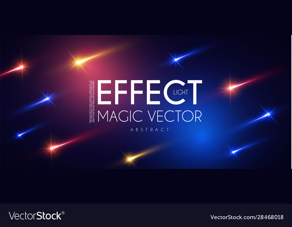 Falling stars comet morion colorful magic power