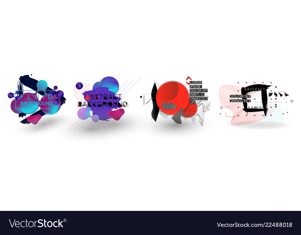 Fluid organic colorful shapes abstract background