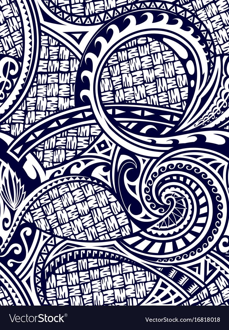 Maori style seamless ornament