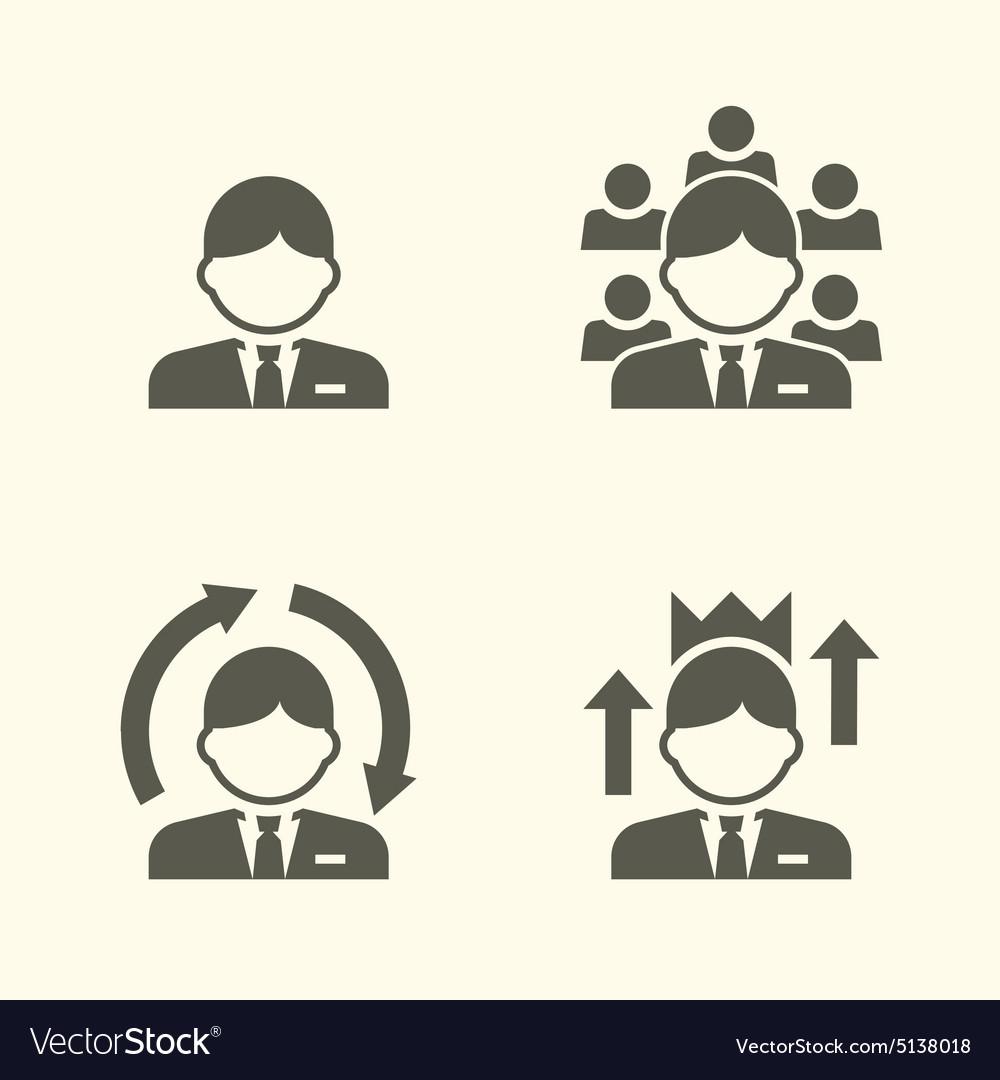 Office guy portrait icons