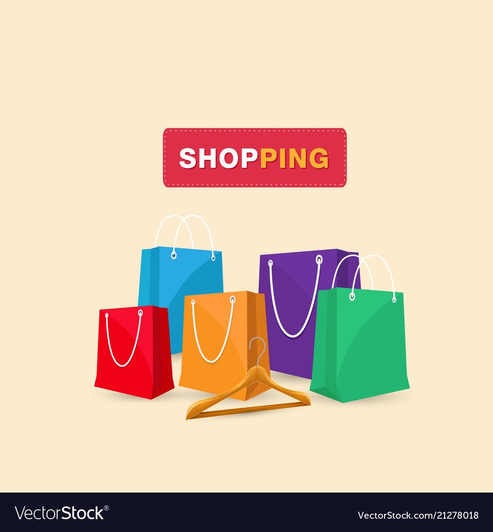 Shopping hanger shopping bag background ima
