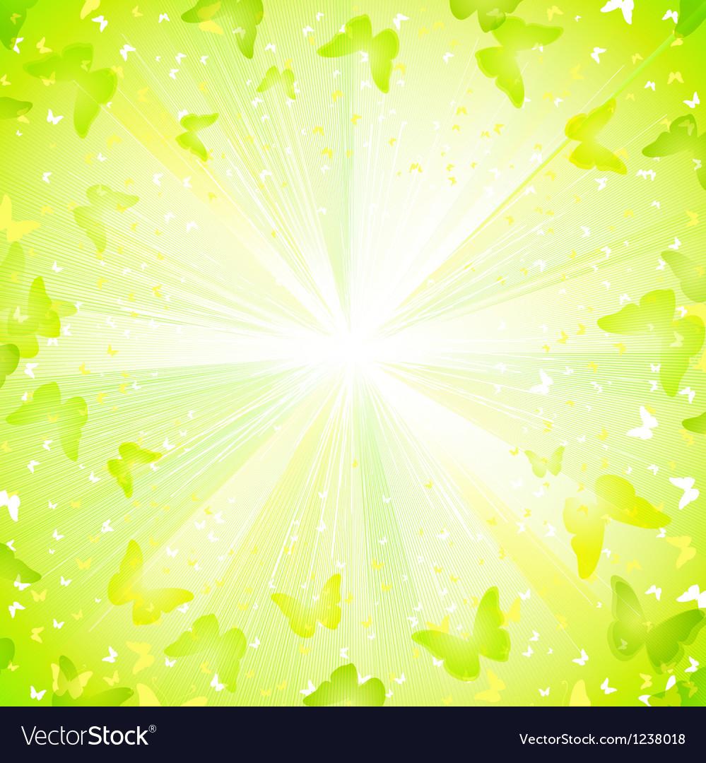 Summer decorative composition vector image